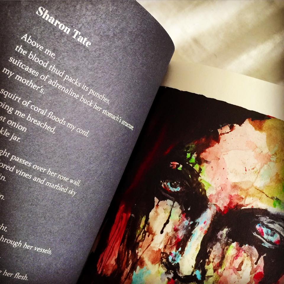"Tamblyn's poem ""Sharon Tate"" is accompanied by artwork by Marilyn Manson (Source: Amber Tamblyn / Facebook)"